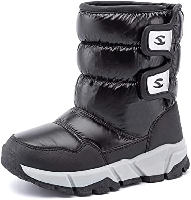 Boys Snow Boots Winter Fur Lined Waterproof Slip Toddler//Little Kid//Big Kid
