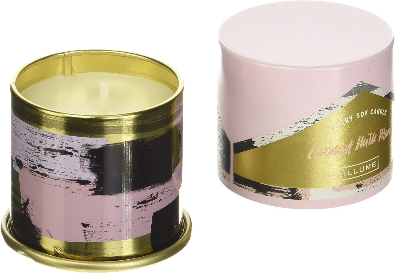 Amazon Com Illume Demi Vanity Tin Soy Candle 3 Oz Coconut Milk Mango Home Kitchen