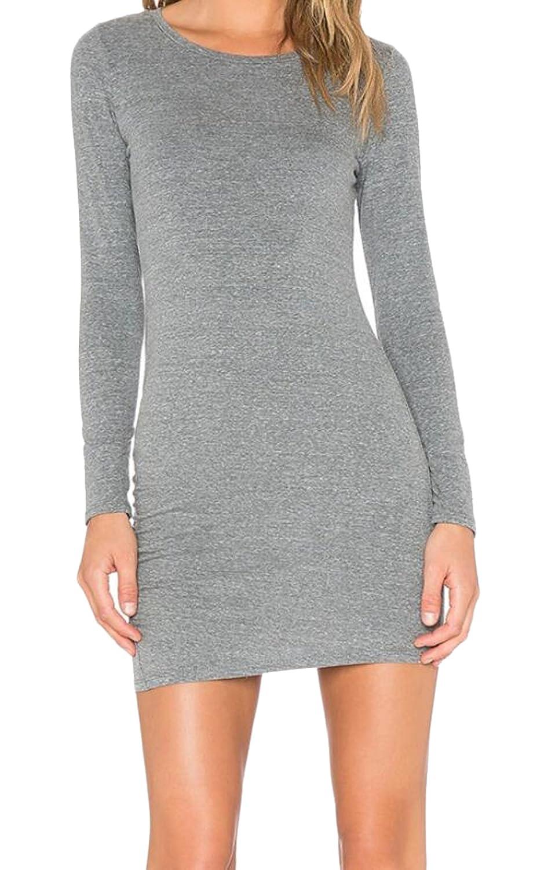 YUNY Womens Sexy Skinny Elastic Short Bottom Bodycon Dress