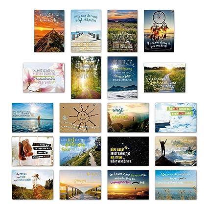 Ewtshop 20 Tarjetas Postales Juego Motivación Con 20 Frases