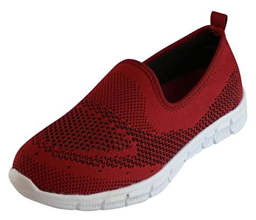 f42a0b50c8bc7c S-3 Women s Slip-On Lightweight Breathable Stretch Casual Athletic Sport  Comfort Walking Shoe
