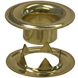 Stimpson Sheet Metal Grommet and Teeth Washer Brass Durable, Reliable, Heavy-Duty #2 Set