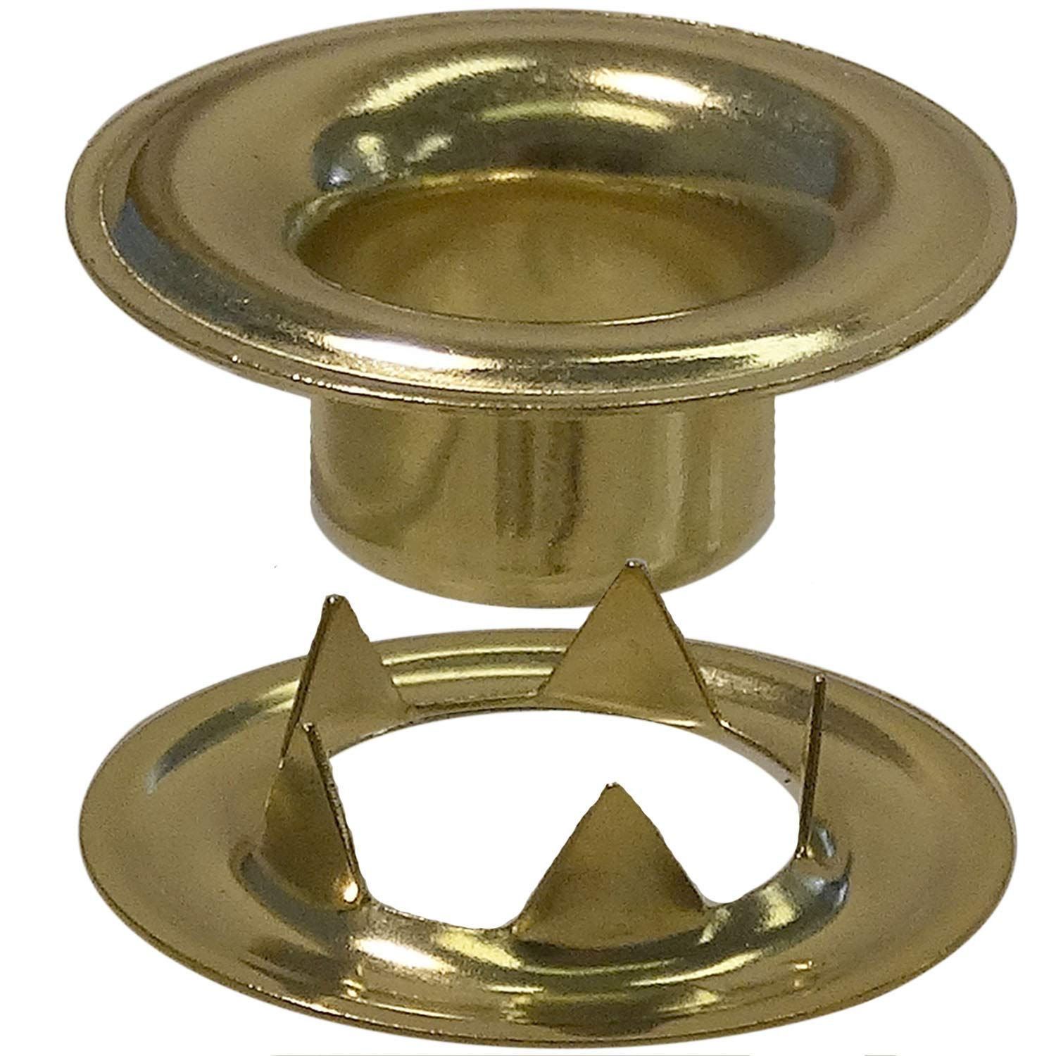 Stimpson Sheet Metal Grommet and Teeth Washer Brass Durable, Reliable, Heavy-Duty #0 Set (14,400 Pieces of Each) by Stimpson Co., Inc. (Image #1)