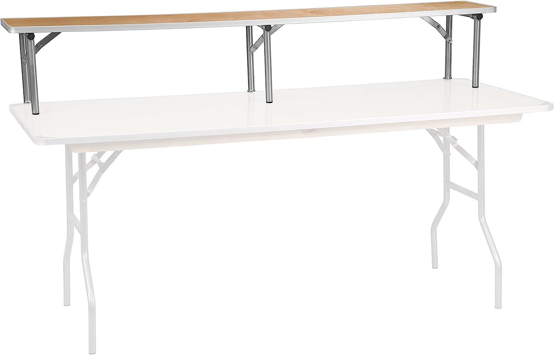 Amazon Com Flash Furniture 72 X 12 X 12 Birchwood Bar Top Riser With Silver Legs Furniture Decor
