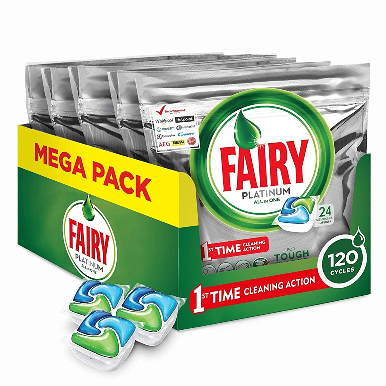 Fairy Caps para lavavajillas - 5 paquetes de x 24 unidades ...