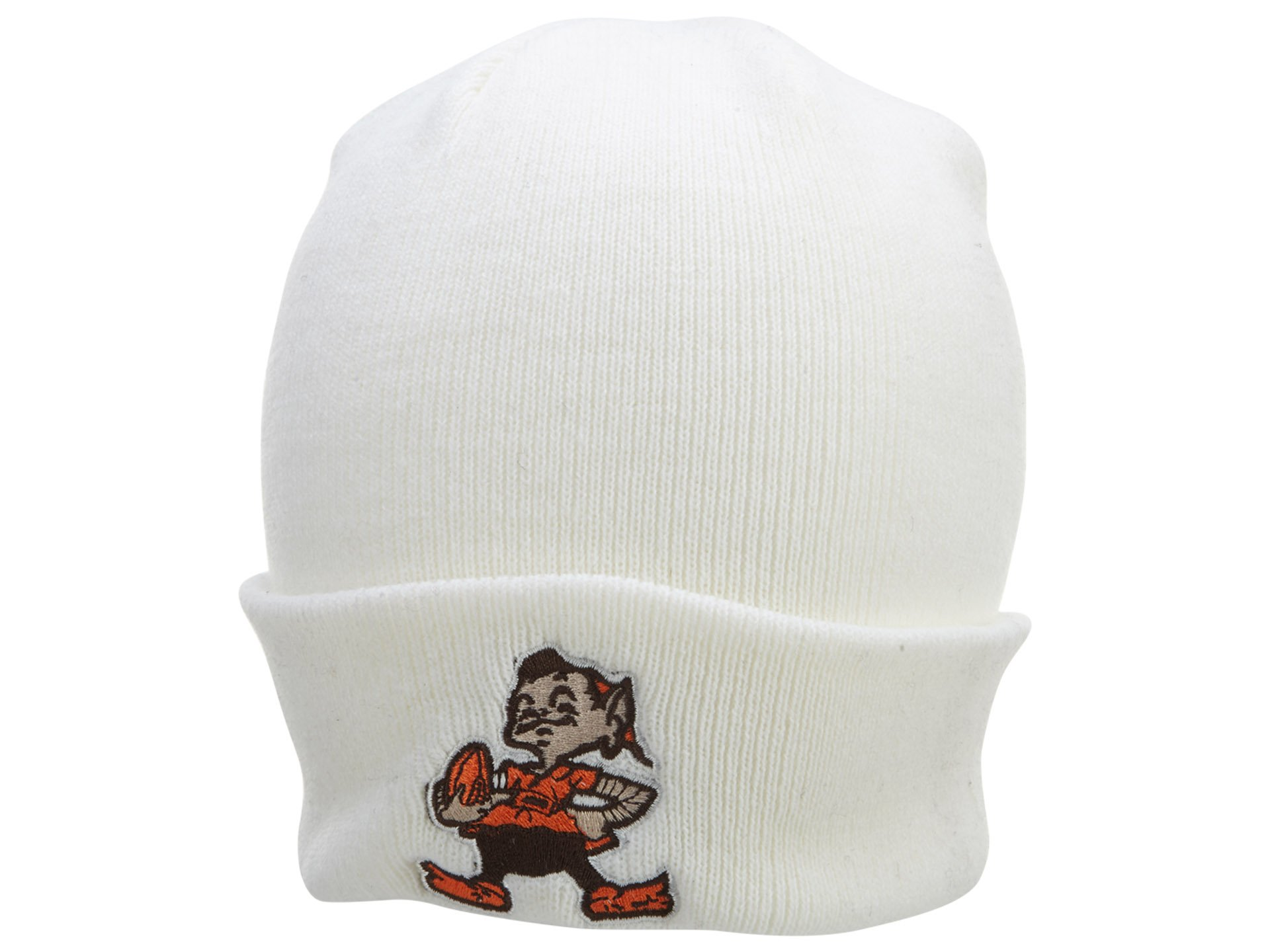 NFL End Zone Cuffed Knit Hat - K010Z, Cleveland Browns, One Size Fits All
