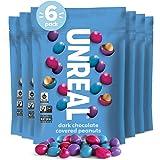 UNREAL Vegan, Non-GMO Dark Chocolate Peanut Gems - 6 Bags