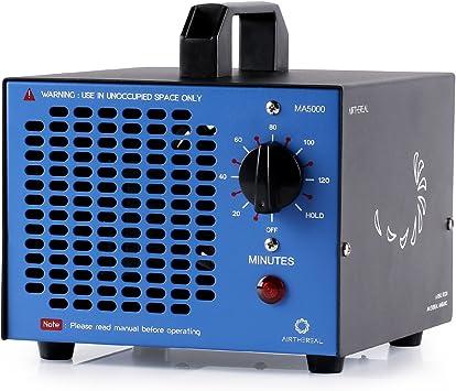 humo MA5000 de purificadores de aire de ozono industrial ozonizador esterilizador de aire para habitaciones azul Airthereal Generador de ozono comercial generador 5000 mg ozono autos