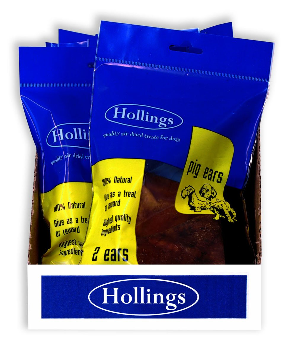 Hollings Ltd Pigs Ears Display 1 Twin Pack