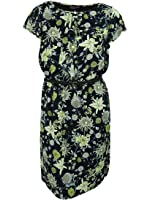 Jones New York Women's Floral Print Ruffled Dress