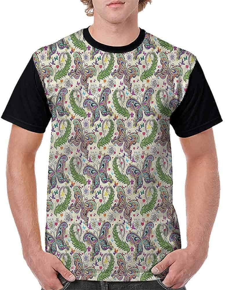 Performance T-Shirt,Ornate Vintage Style Fashion Personality Customization