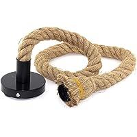 Lámpara Cuerda Vintage, E27 100 cm Rústico Retro