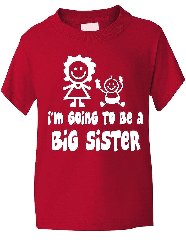 Print4u I'm Going To Be Big Sister Funny Girls T-Shirt Baby Birthday Gift Gildan