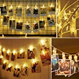 Twinkle Star 16.4 ft 40 Photo Clips String Lights