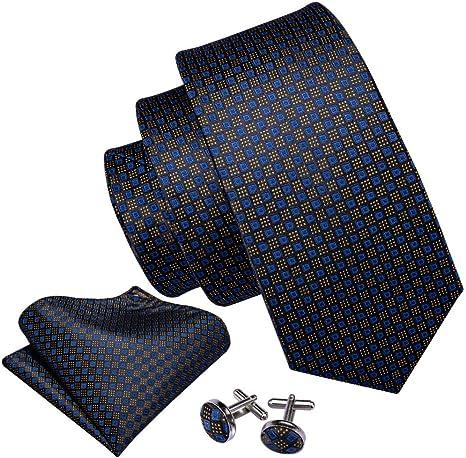 WOXHY Oro Azul Novedad Diseñadores De Moda Corbata Azul Caja De ...