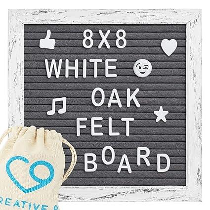 amazon com letter board 8 x 8 vintage rustic oak frame w stand