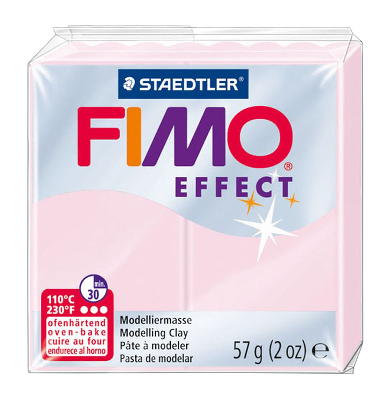 Staedtler Fimo Effect Arcilla polimérica 2Oz. Light Plata Pearl, acrílico,, 6 8020-817