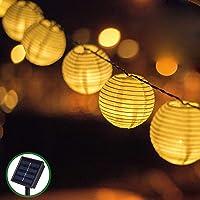 Guirnaldas de Luces Solar Jardín LED Bawoo 30 LED Guirnaldas Luces Exterior 5,5m…