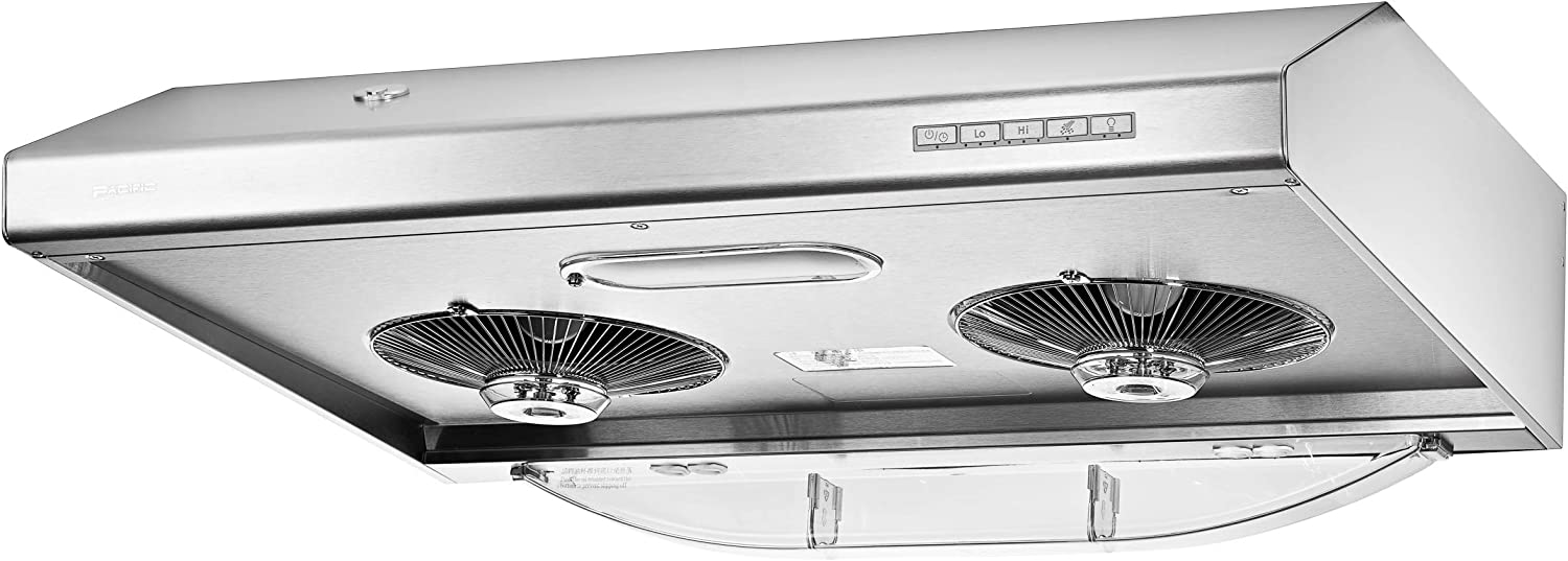 "AC/3000BS PACIFIC RANGE HOOD 30"" AUTO CLEAN MADE IN TAIWAN 800 CFM STAINLESS STEEL."