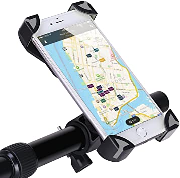 GHB Soporte de Móvil para Bicicleta Motocicleta Universal para Smartphone/iPhone 7/ iPhone 7 Plus/iPhone 6/ iPhone 6 Plus/Dispositivos GPS etc [Color-Negro y Gris]: Amazon.es: Electrónica