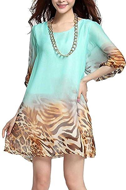 Raivar Mariposa Chiifon y Animal Print Vestido, UK tamaños (8/10/12