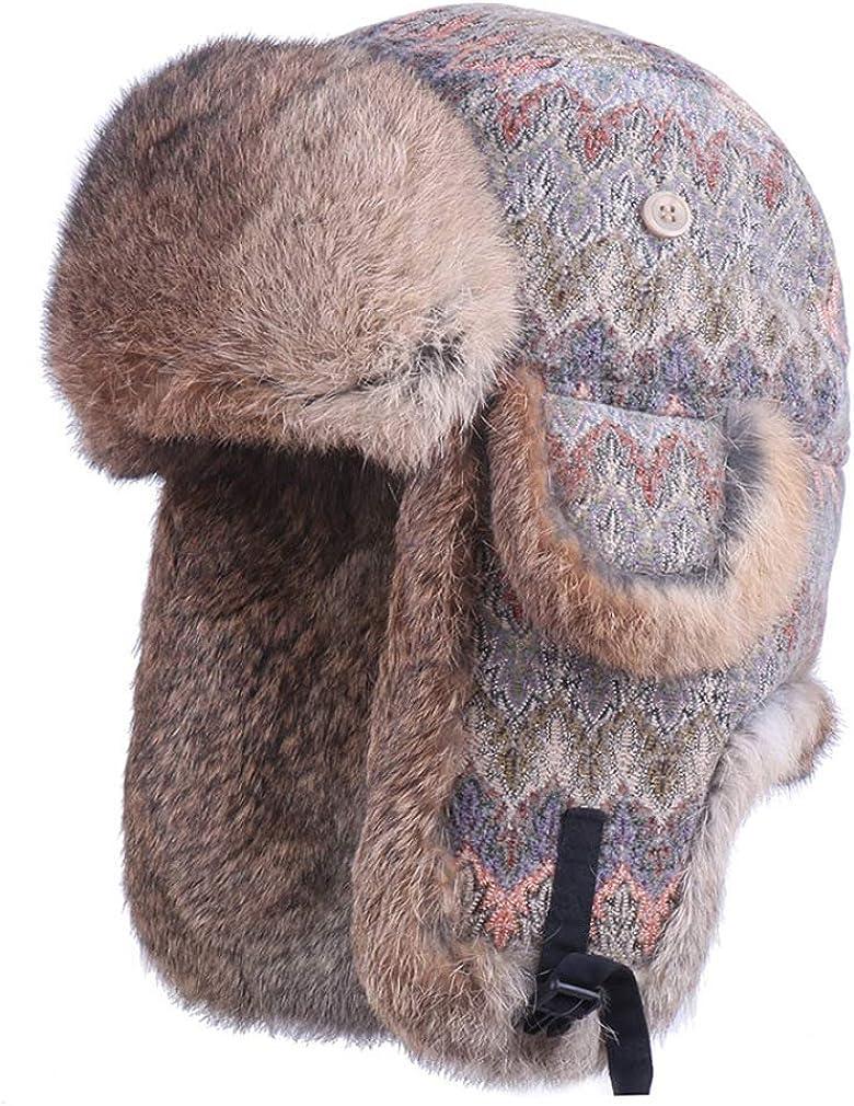 Real Rabbit Fur Winter Hats...