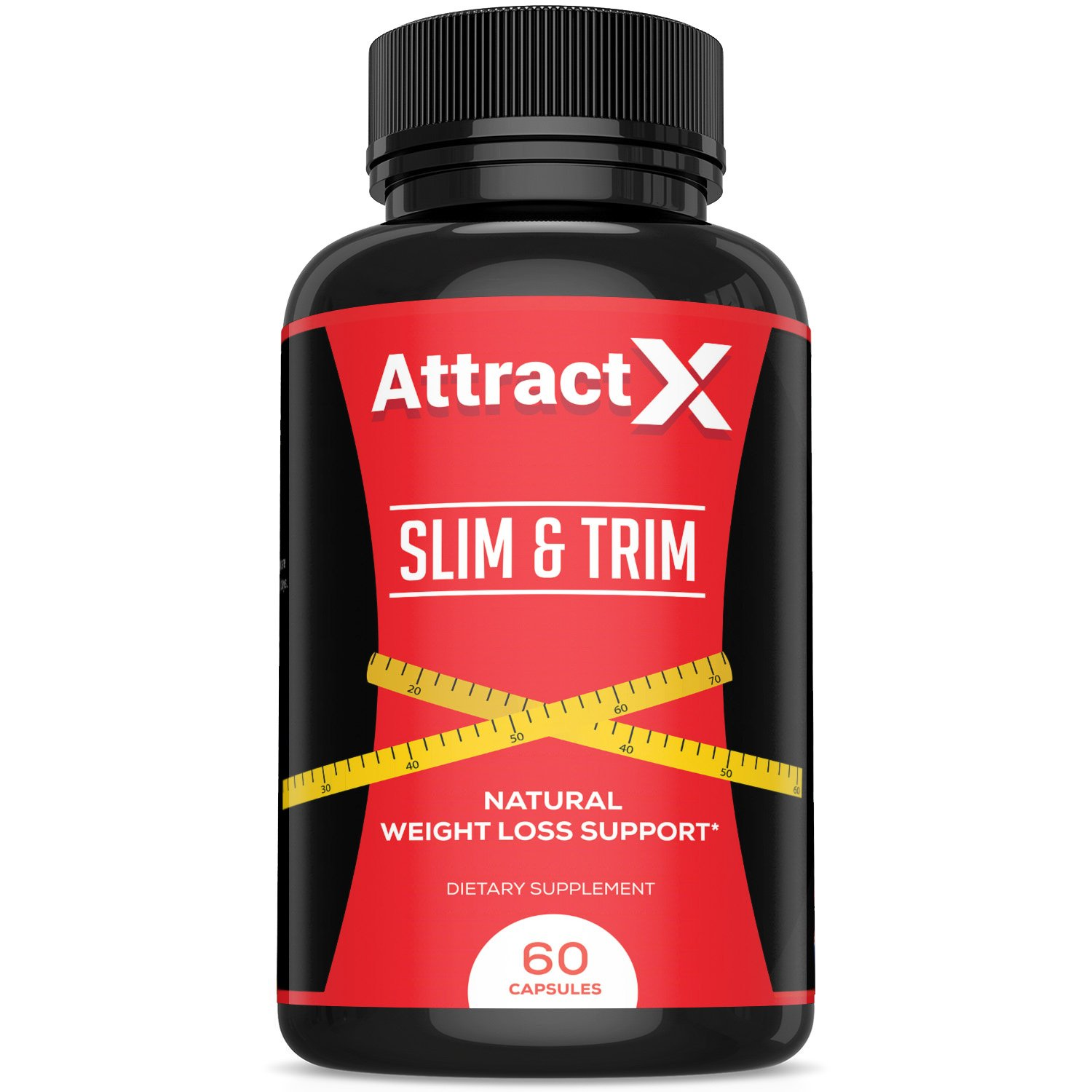 Slim and Trim - Weight Loss Supplement - Boosts Metabolism, Burn Fat, Supports Natural Energy & Stamina - Formulated with Green Tea Extract, CLA, Garcinia Cambogia & More! - 60 Natural Veggie Pills by Attract X Nutrition
