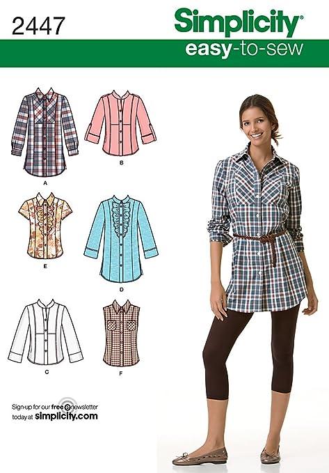 quality design b5150 9c283 Simplicity 2447 U5 - Cartamodello per camicie da donna ...