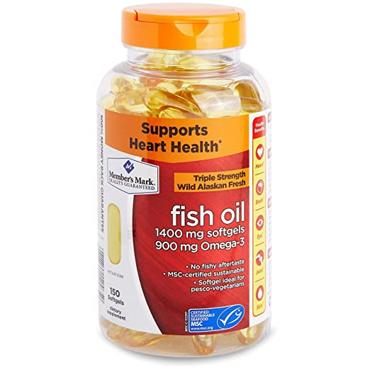Amazon.com: Members Mark - Omega 3, Fish Oil 1400 mg (900 mg EPA/DHA), Enteric Coated, 150 Softgels: Health & Personal Care