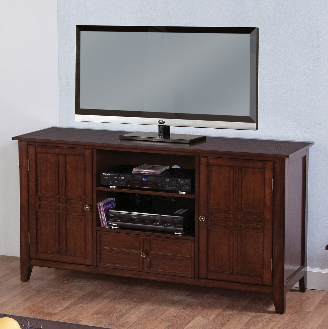 New Classic Burton Entertainment Console, African Honey