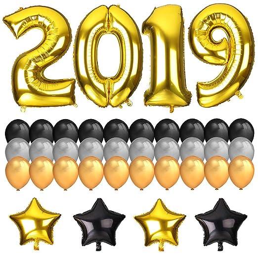 KAIMENG Conjunto de Fiesta de año Nuevo 2019 Deco, balón de Hoja ...