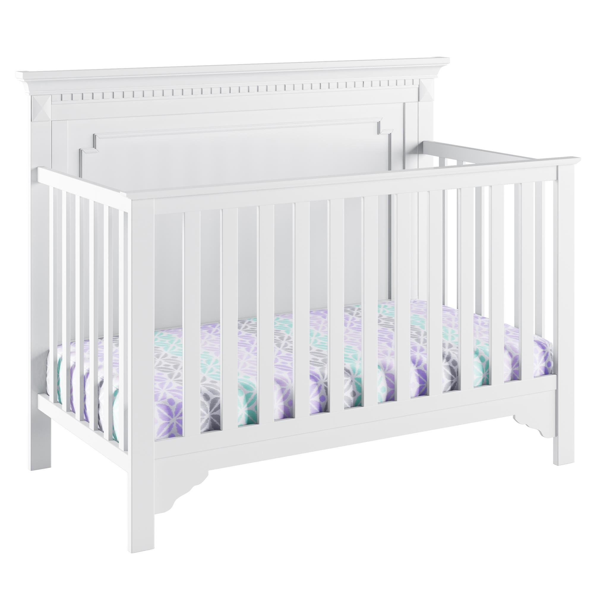 Full Size Conversion Kit Bed Rails for Baby Relax Edgemont, Miles & Rivers Cribs by Dorel Living - White by CC KITS (Image #3)