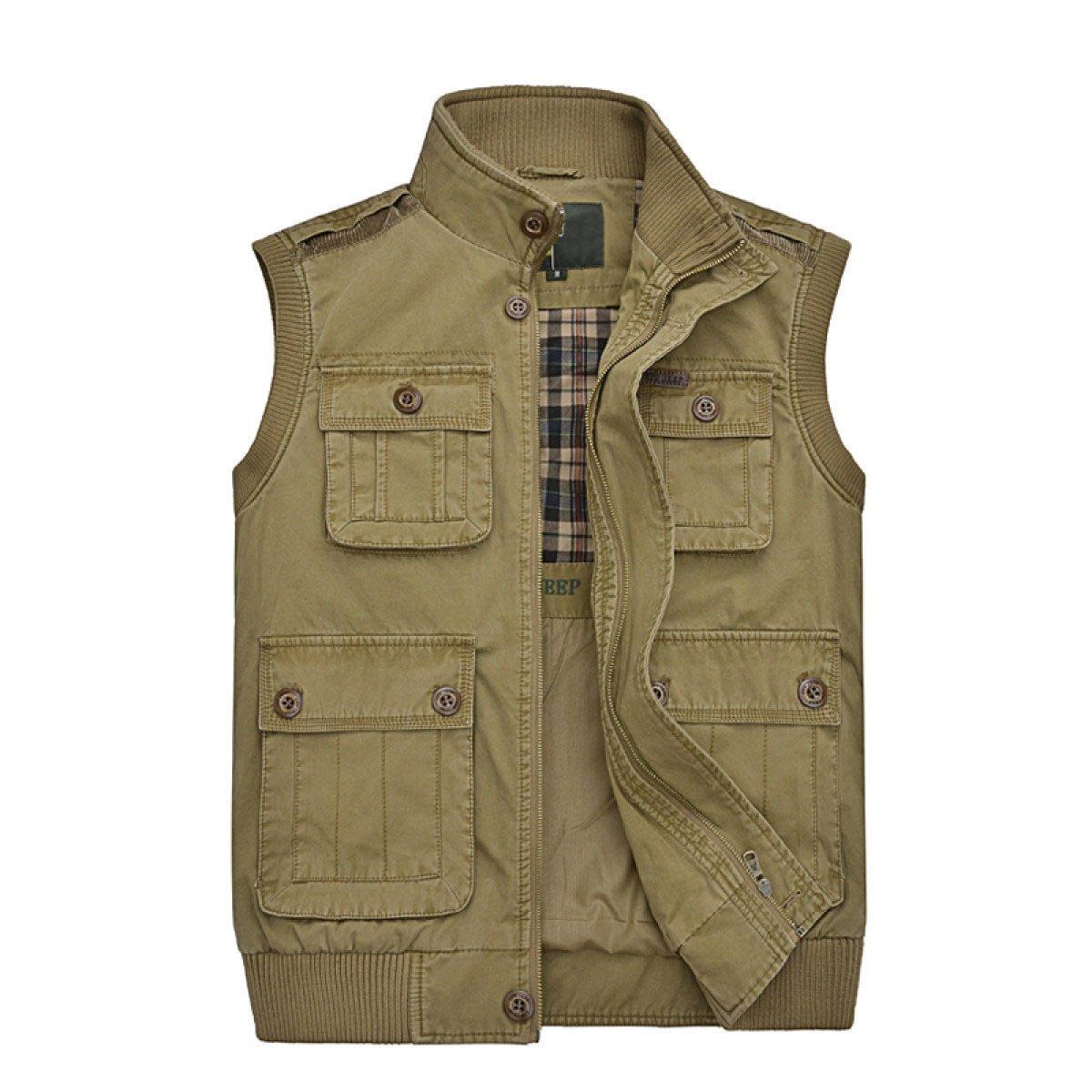 Männer Herbst Und Winter Multi-Tasche Outdoor-Direktor Cotton Weste Gilet