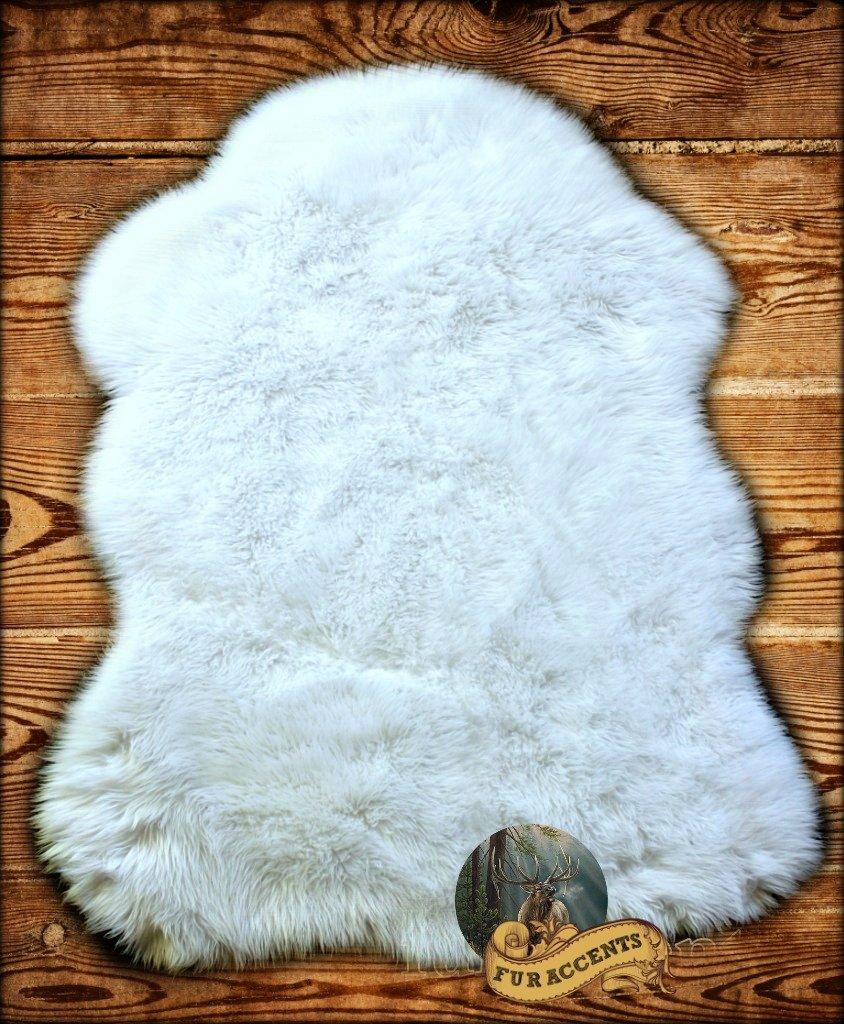 Faux Bearskin Rug Amazoncom Fur Accents White Faux Sheepskin Area Rug Chair