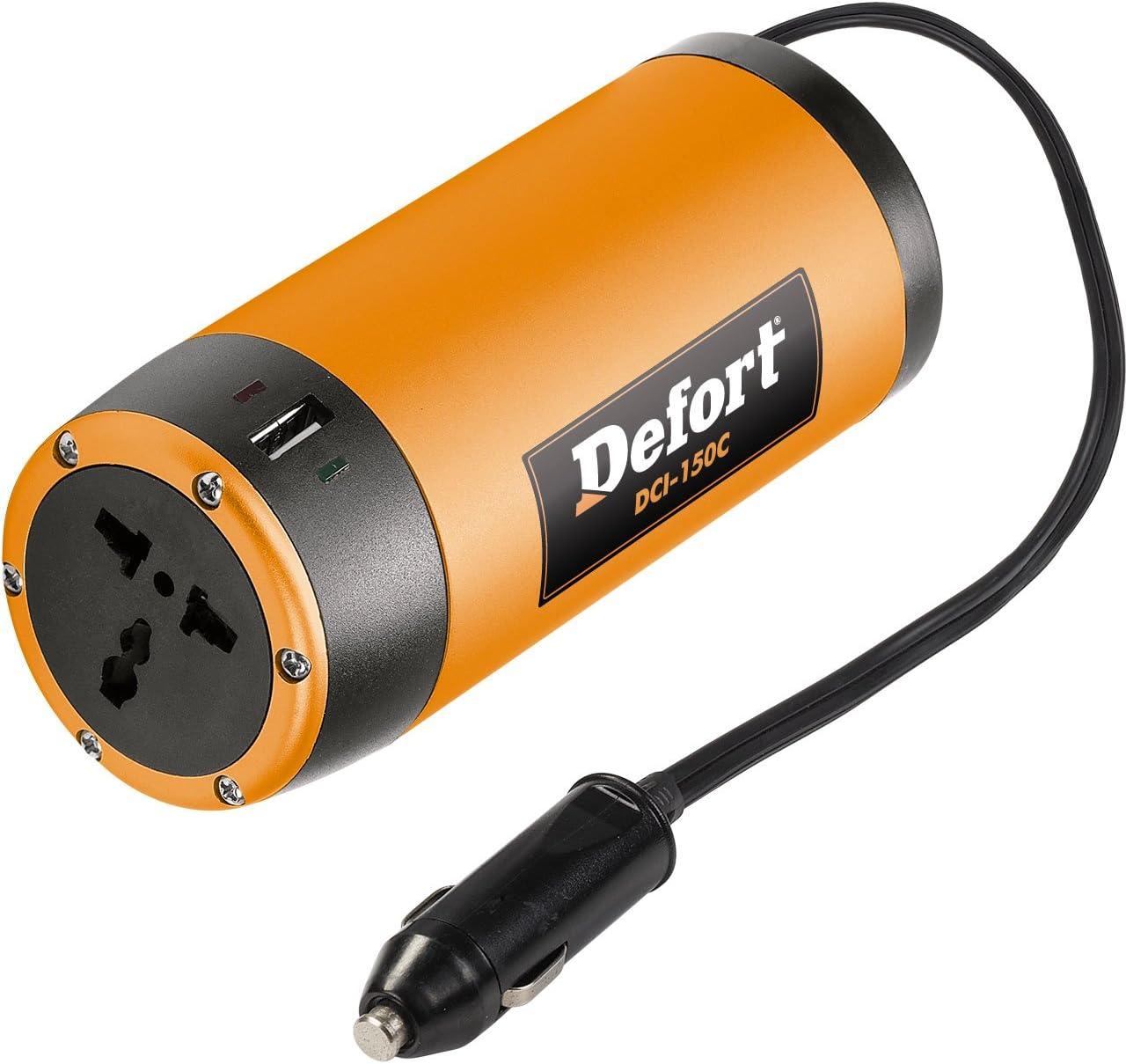 Defort DCI-150C Inversor de corriente para autom/óviles DC 12V AC 230V