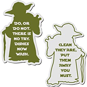 Clean Dirty Magnet for Dishwasher – Yoda, A Strong Heavy Duty Magnetic Dishwasher Sign to Identify if Your Dishes are Clean or Dirty. Double Sided Magnetic Sign Clean or Dirty