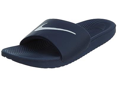NIKE Men s Kawa Slide Athletic Sandal Midnight Navy/White 13 D US