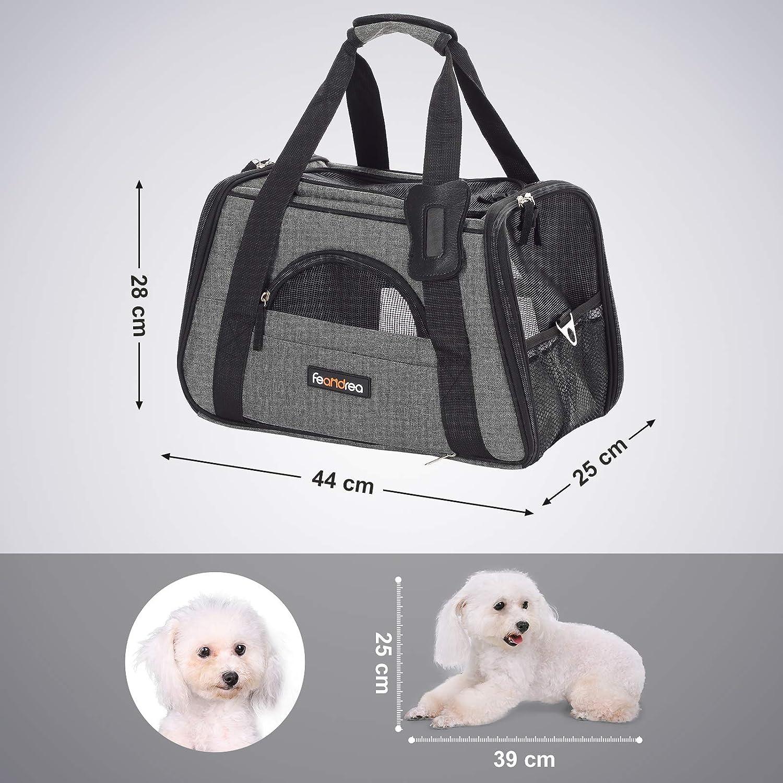 Gris Oscuro PDC44GY para Perro FEANDREA Bolsa de Transporte para Mascotas