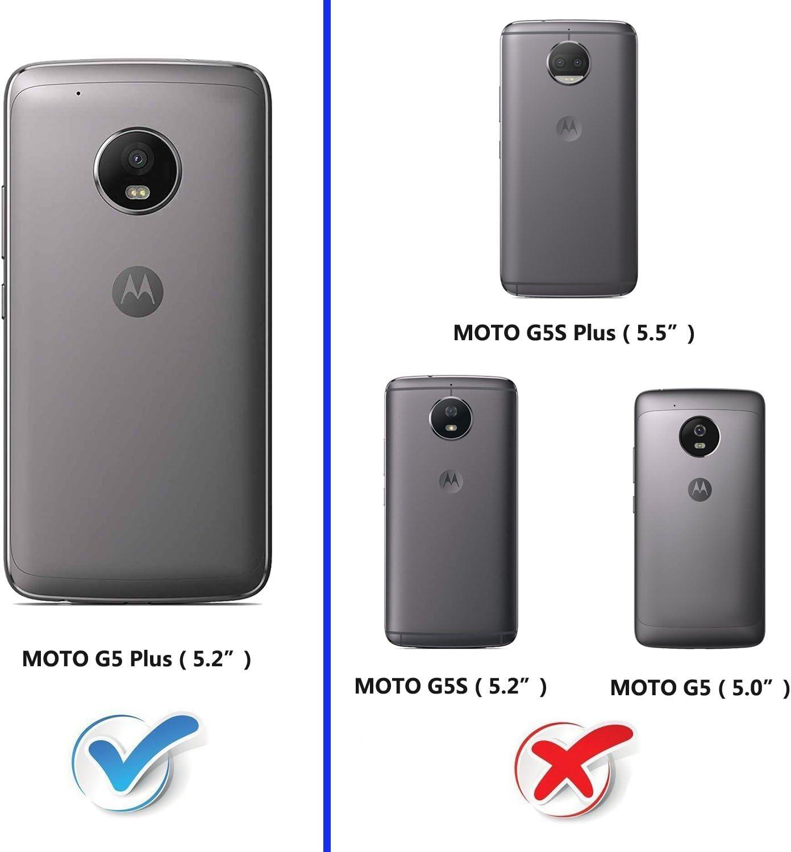 AICOCO Moto G5 Plus - Funda de Piel con Tapa para Moto G5 Plus ...
