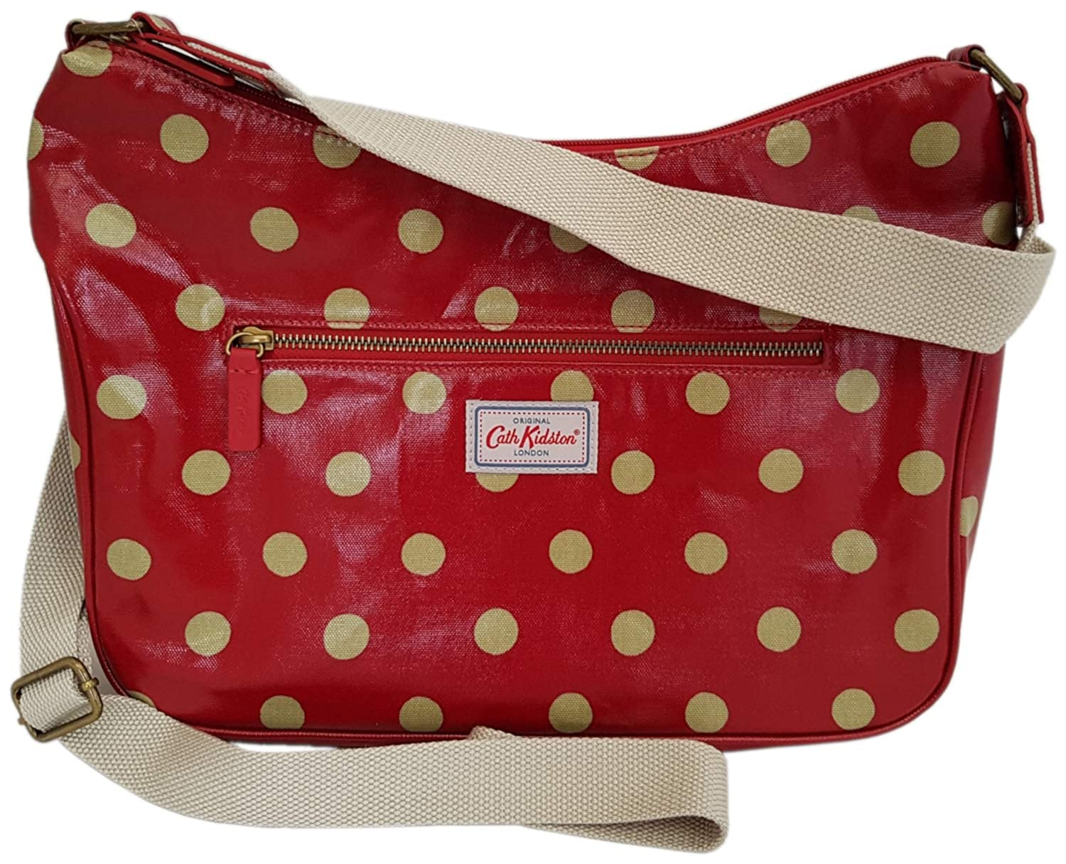 look out for separation shoes cheap for sale Cath Kidston Button Spot Curve Berry Red Shoulder Cross Body Bag