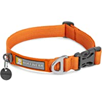 """RUFFWEAR, Front Range Dog Collar, Durable and Comfortable Collar for Everyday Use, Campfire Orange, 11""""-14"""""""
