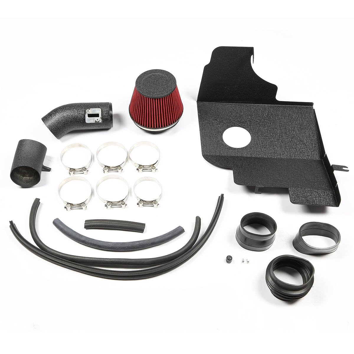 V6 For Ford Mustang Black Coated Aluminum Air Intake System