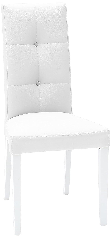 Fashion Commerce 02-FC263 Set di Sedie Bianco 45x46x100 cm 2 unit/à Similpelle