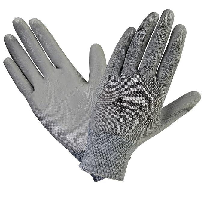 workAnt Guante algodón puntos con un suave recubrimiento de PU - Talla: 6
