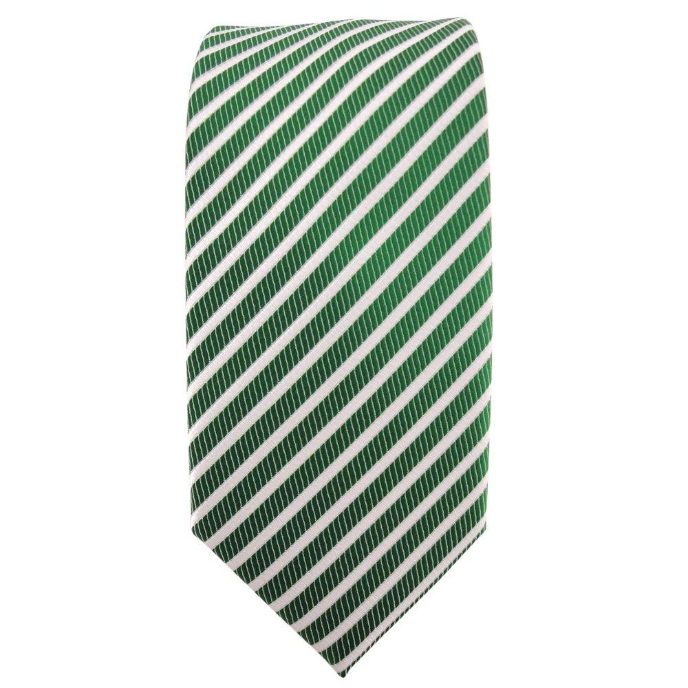 Schlips Binder Tie Schmale TigerTie Krawatte hellblau weiß gestreift