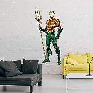 Kismet Decals Justice League Rebirth Wall Sticker Aquaman Rebirth King of Atlantis Large