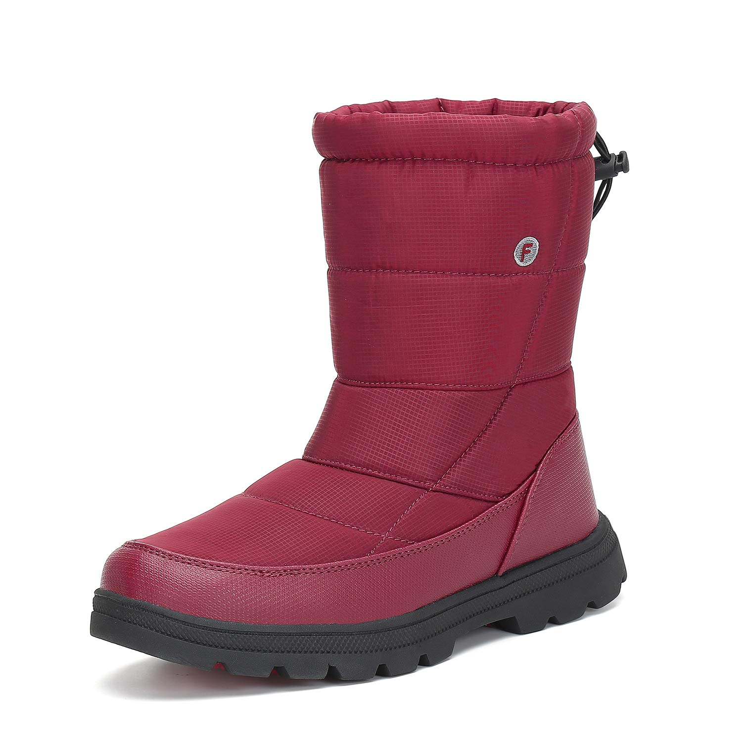 Womens Mens Winter Mid-Calf Snow Boot Fur Warm Waterproof Slip On Outdoor Athletic Casual Walking XZ-F49