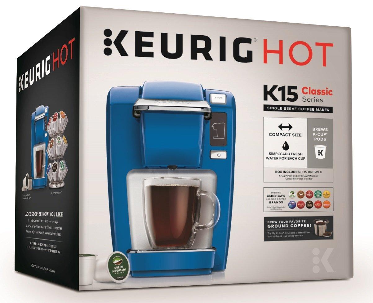 Keurig K15 Single Serve Compact K-Cup Pod Coffee Maker, True Blue by Keurig (Image #8)