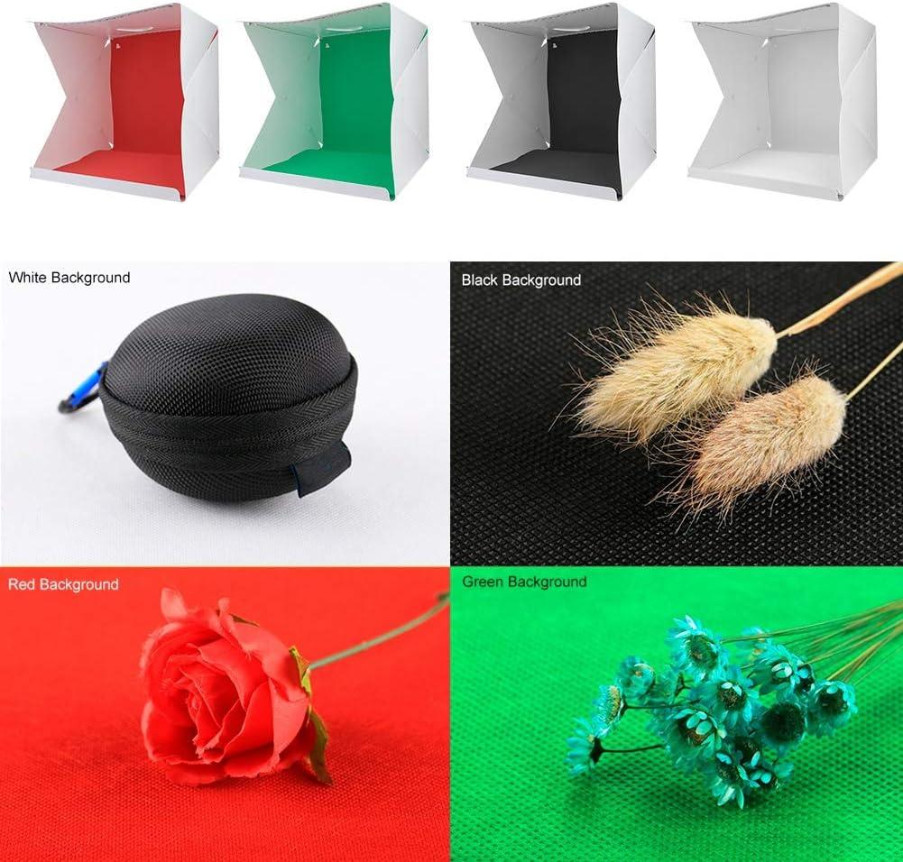 EBTOOLS Mini Photo Studio de Pliage Tente de Studio de Photographie Pliante Aimant Portable 20cm 20 LED lumi/ère Soft Box Lightbox Room