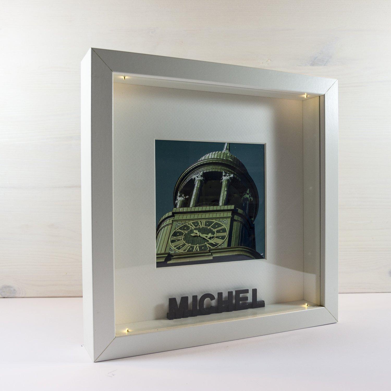 LED-Bilderrahmen *PERSONALISIERT* 25x25 cm // für Innenbereich, als ...
